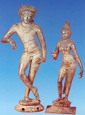 Chola Bronze icon. Siva and Parvathi c. 1200 C.E.