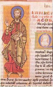 Apóstolo Santiago. Folio 4 do Códice Calixtino