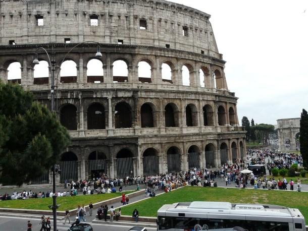 Image result for Colosseum of Rome v Roman Amphitheater of Merida