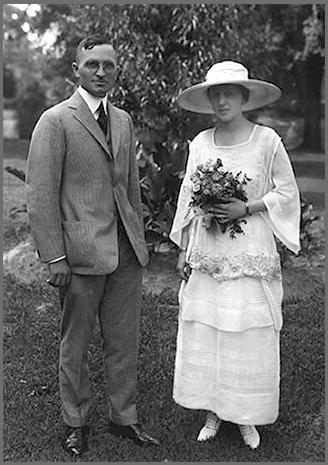 Truman y su mujer el día de su boda
