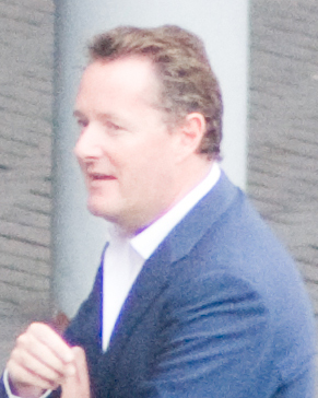 Piers Morgan filming Britain's Got Talent.