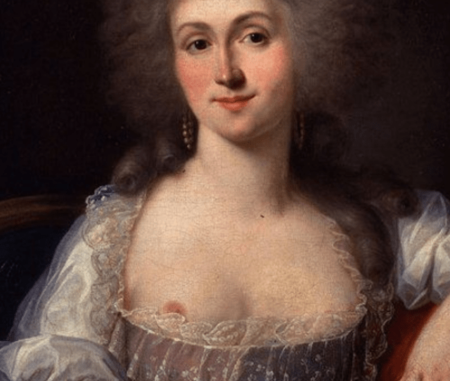 Duplessiss Portrait Of A Semi Topless Marie Therese Louise Of Savoy Dates From Th Century France