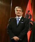 Sali Berisha, Prime Minister of Albania, durin...