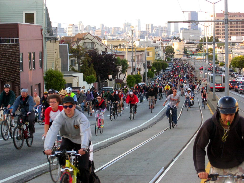 Critical Mass Bicycle ride image
