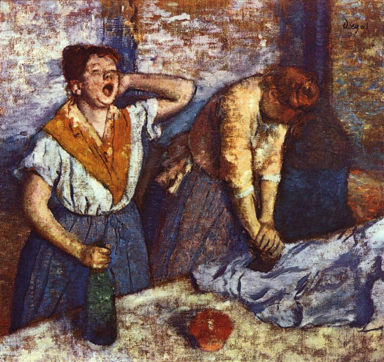 Two ironing women, by Edgar Degas