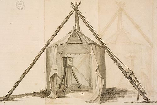 Portable observatory used by Captain Cook
