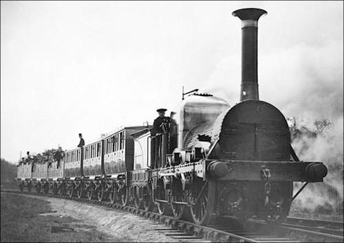 Train on the Liverpool-Manchester.