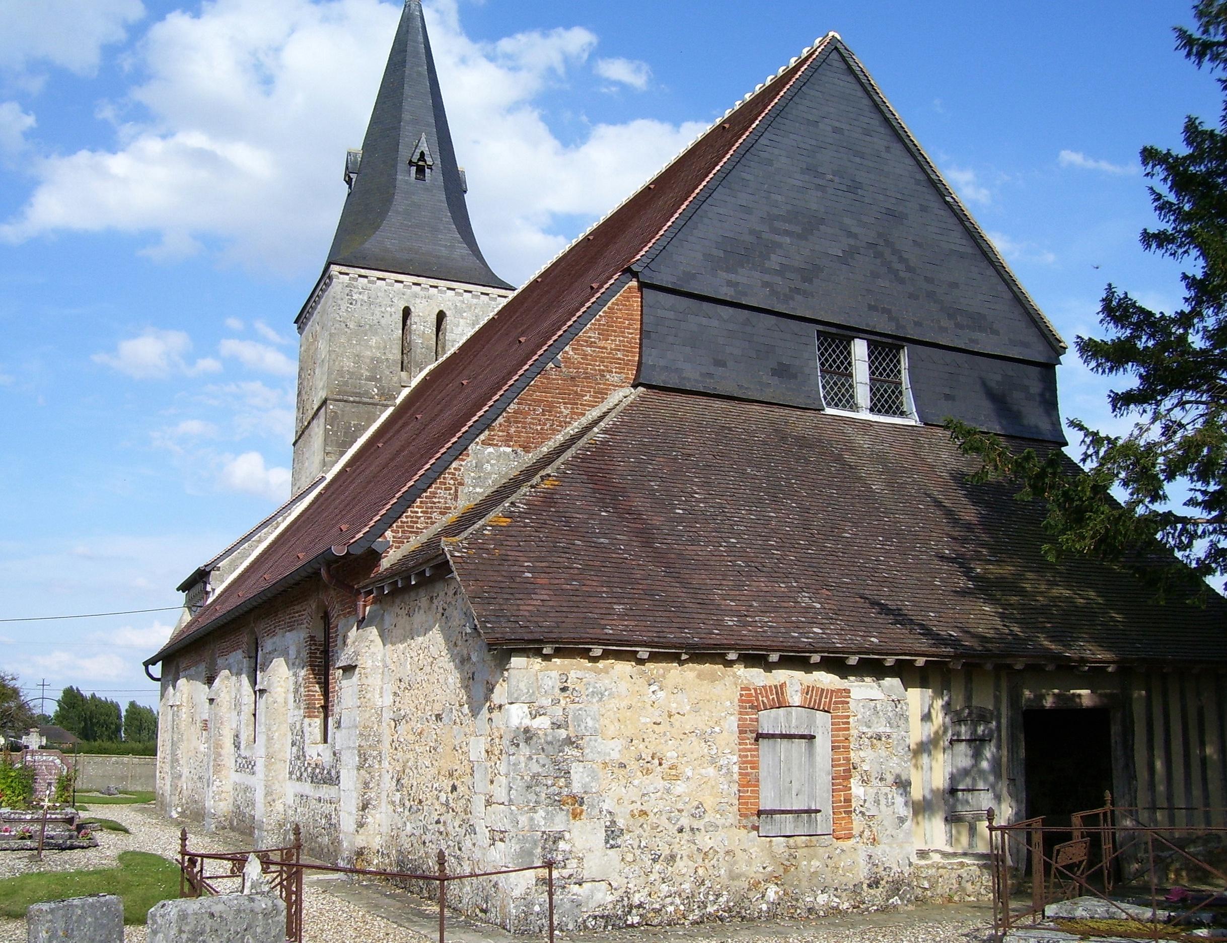 Église Saint-Aubin, eigenes Foto, Lizenz: public domain/gemeinfrei