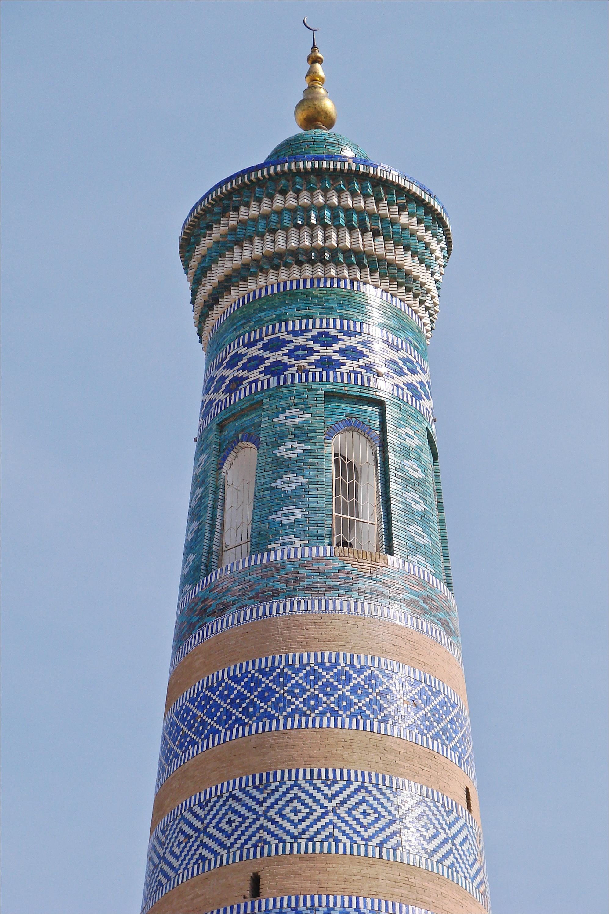 FileLe Minaret Islam Khodja Khiva Ouzbkistan