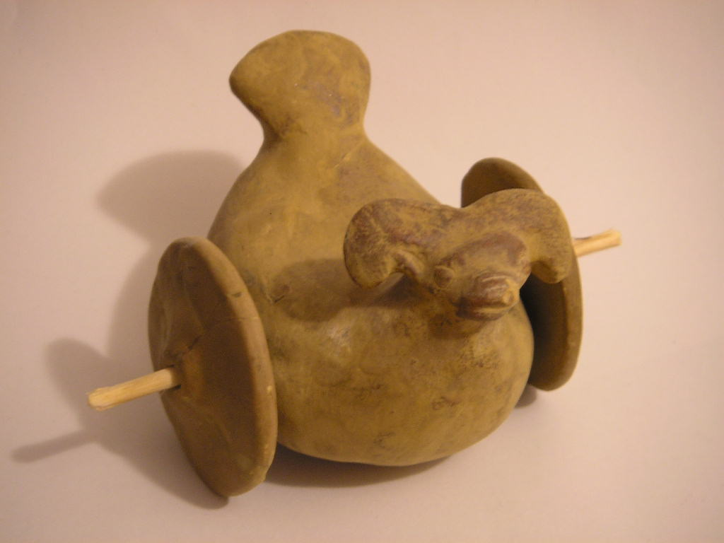 Children's toy from Mohenjo-daro. Located in t...