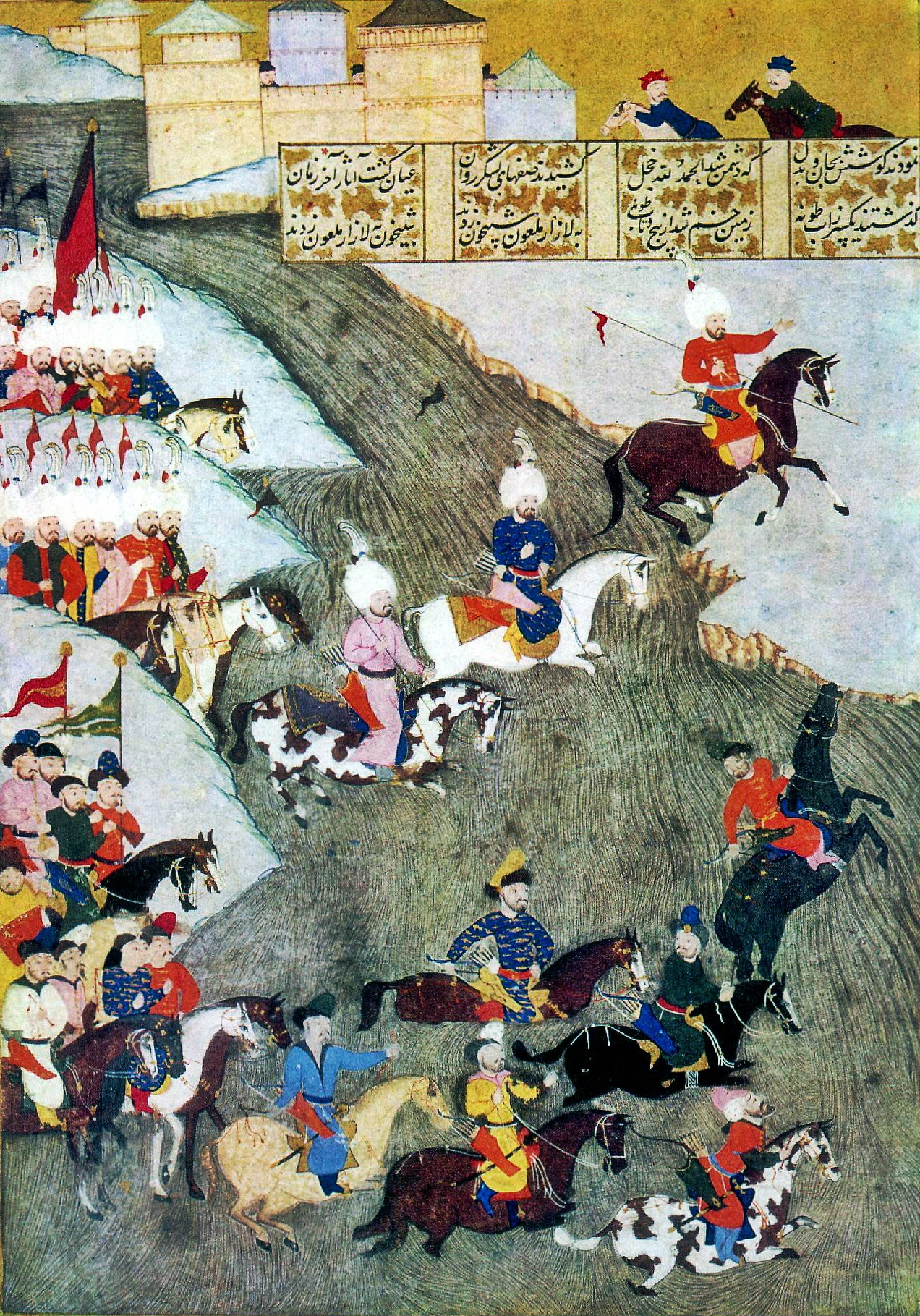 Miniature: Szigetvár campaign 1566, Tatars as avantgarde.