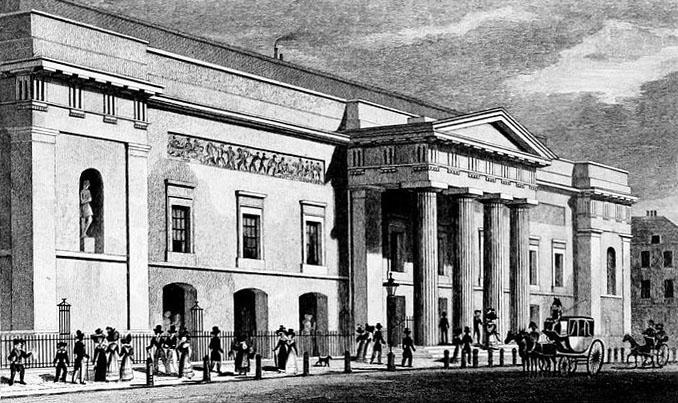 The Theatre Royal, Covent Garden by Thomas H. Shepherd, 1827/8
