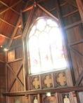 Bloom effect on a church window