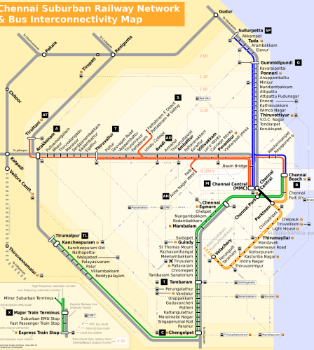 Chennai Metro Train Route