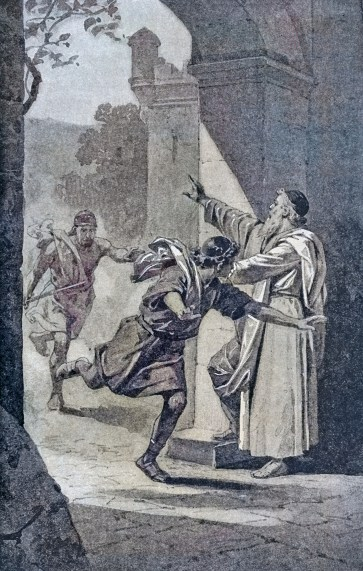 Drawing by Charles Foster - Running to the City of Refuge