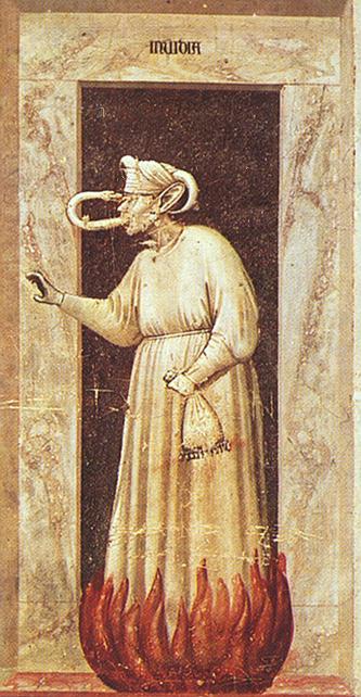 Renaissance painter Giotto's depiction of envy.