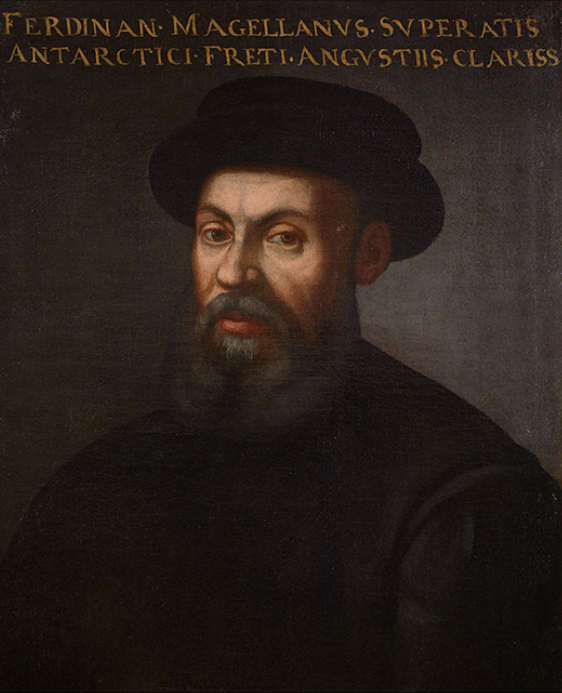 An anonymous portrait of Ferdinand Magellan, 16th or 17th century (The Mariner's Museum Collection, Newport News, VA) Legend: