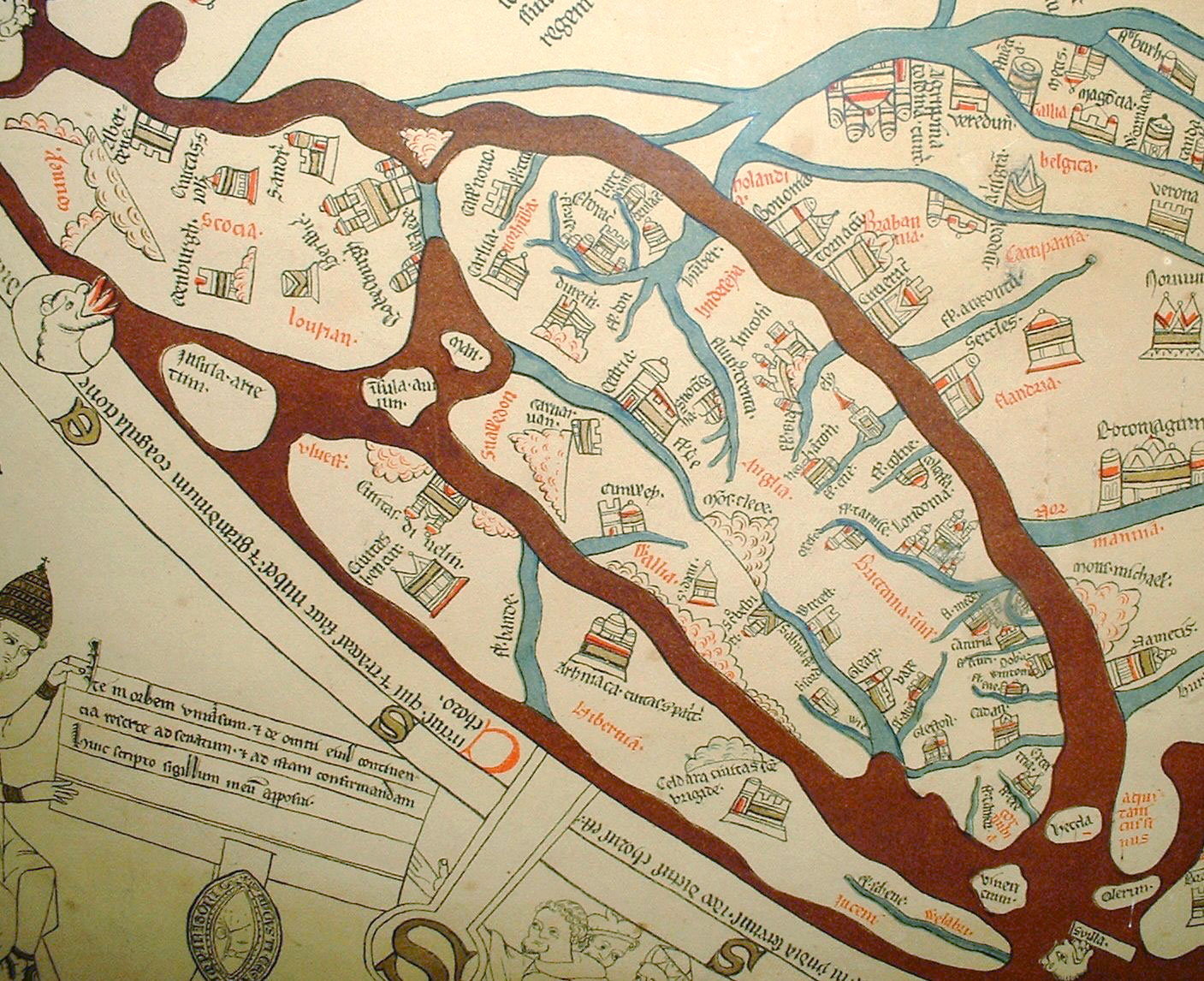 Hereford Mappa Mundi detail Britainedit