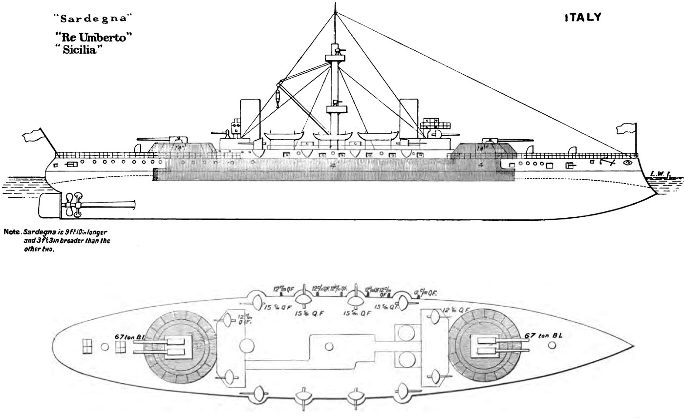 File Re Umberto Class Battleship Diagrams Brasseys