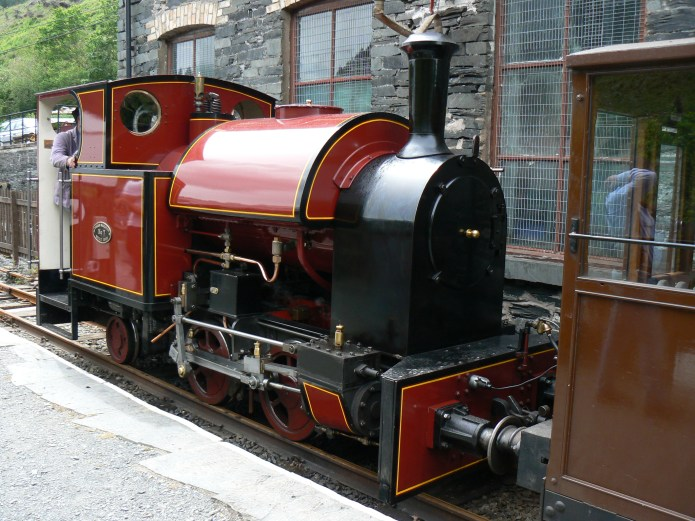 Corris Railway new Tattoo locomotive at Maespoeth.