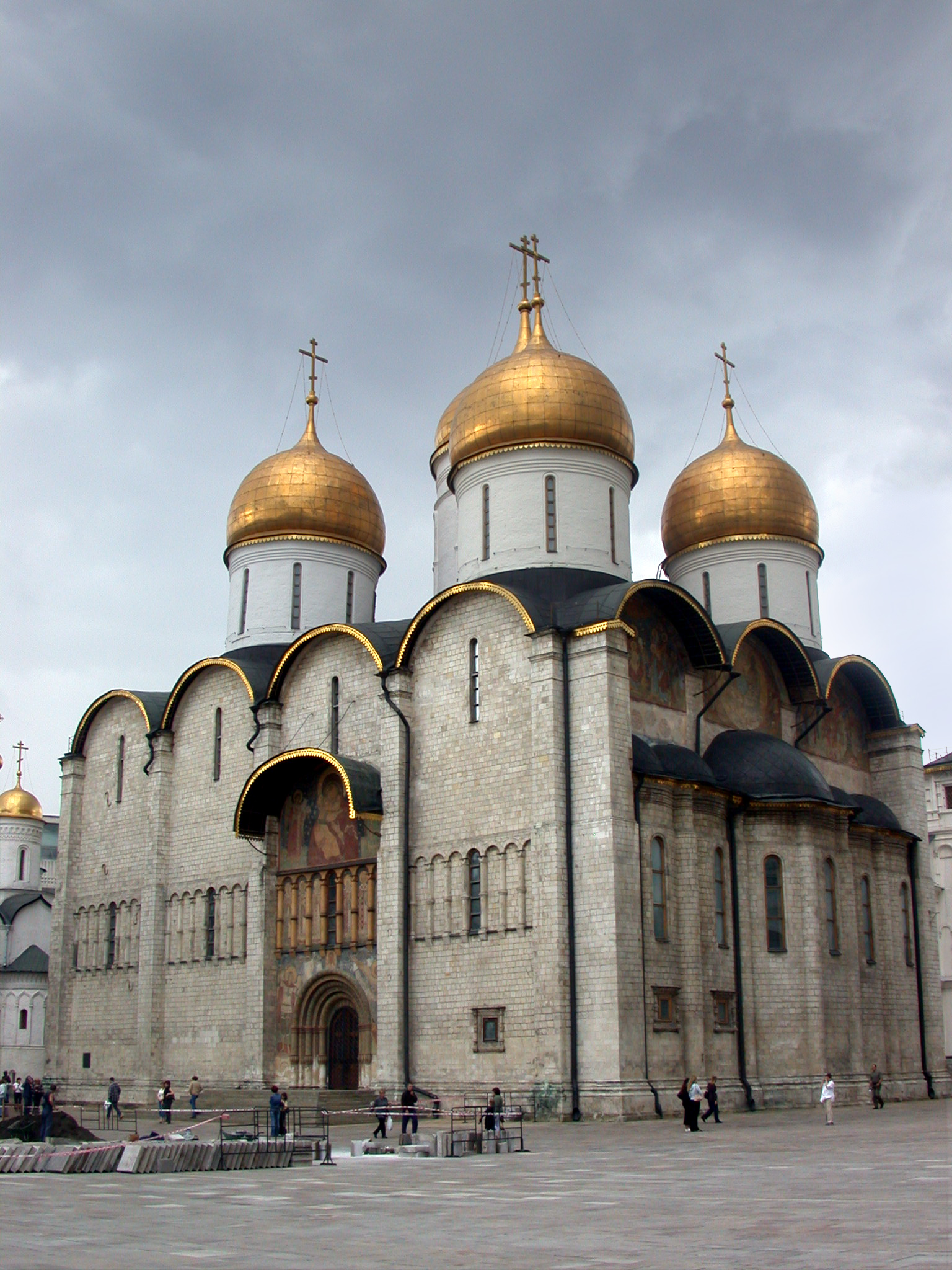 The Dormition Cathedral in the Moscow Kremlin.