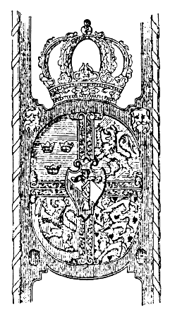 The coat of arms of Eric XIV of Sweden includi...