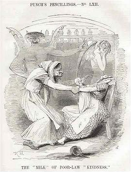 Punch Cartoon from 1843 criticizing the Poor Law