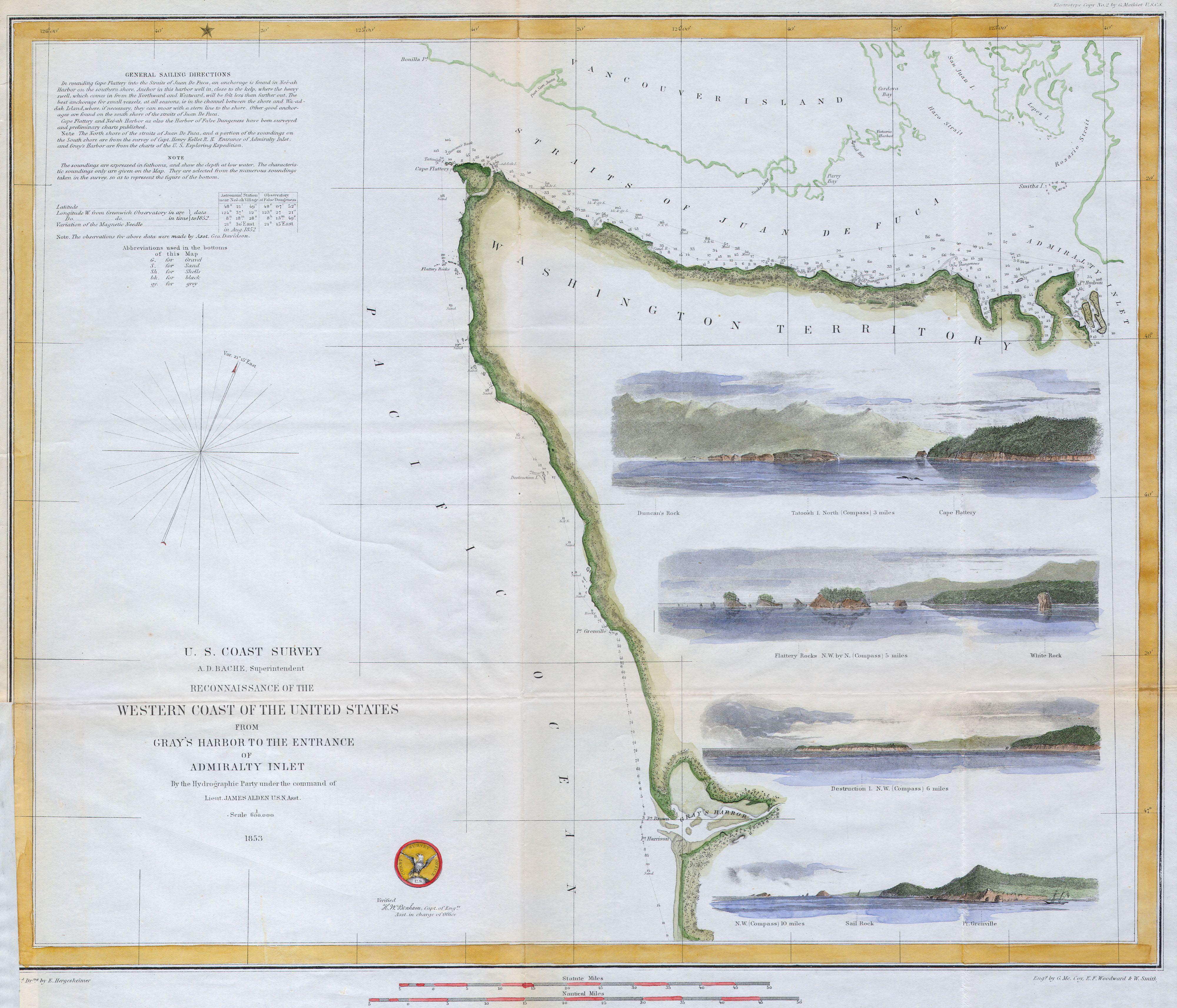 File U S C S Map Or Chart Of Northwestern Washington