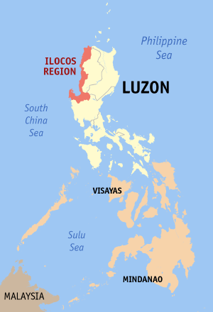 Map of the Philippines showing the location of...