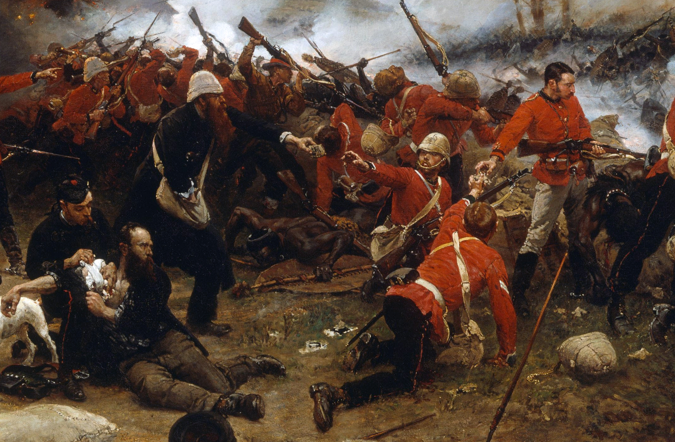 The Battle of Rorke's Drift, 1879.