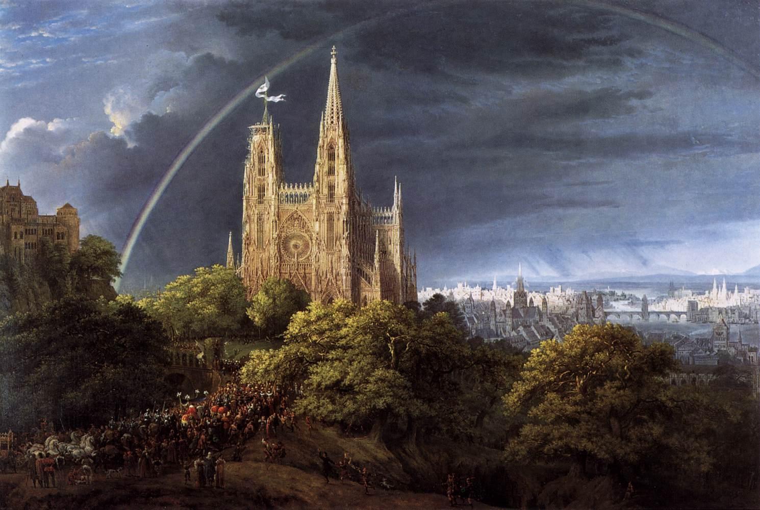 Image result for Karl Friedrich Schinkel Medieval City on a River