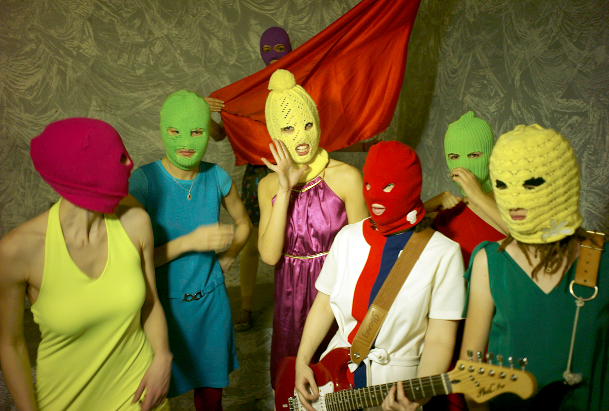 7 members of Pussy Riot, courtesy of wikimedia