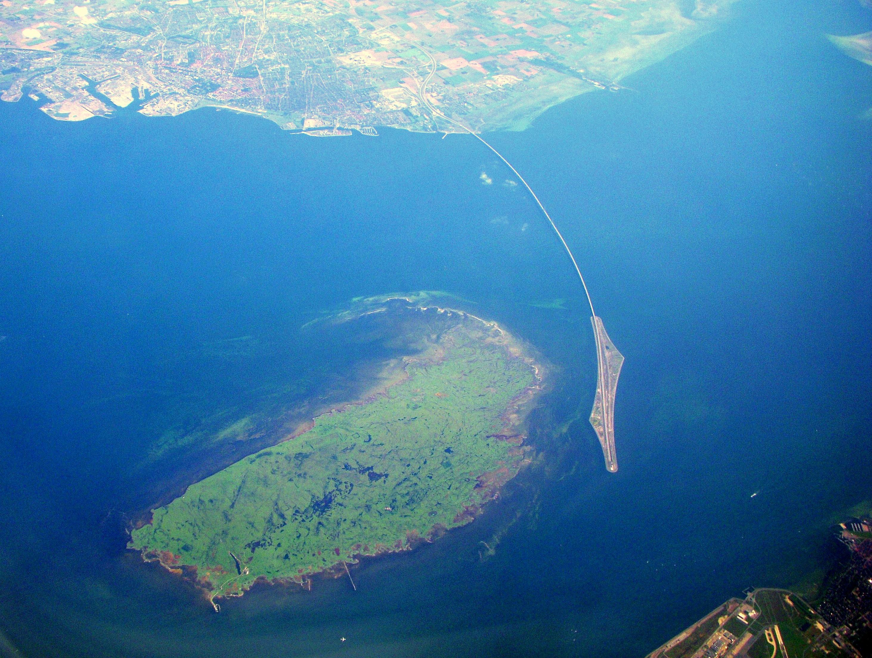 Öresundsbron med Pepparholmen
