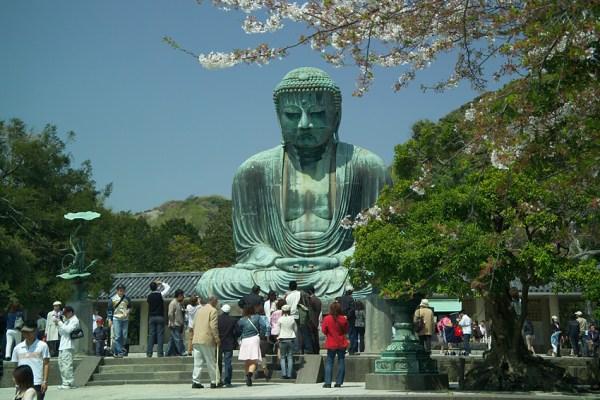 Kamakura Buddha Daibutsu front 1885