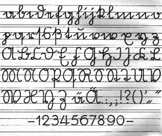 Sütterlin-Ausgangsschrift