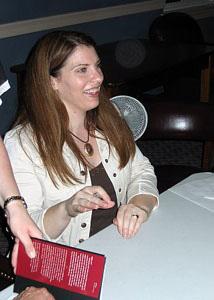 Stephenie Meyer on her Eclipse tour in 2007.