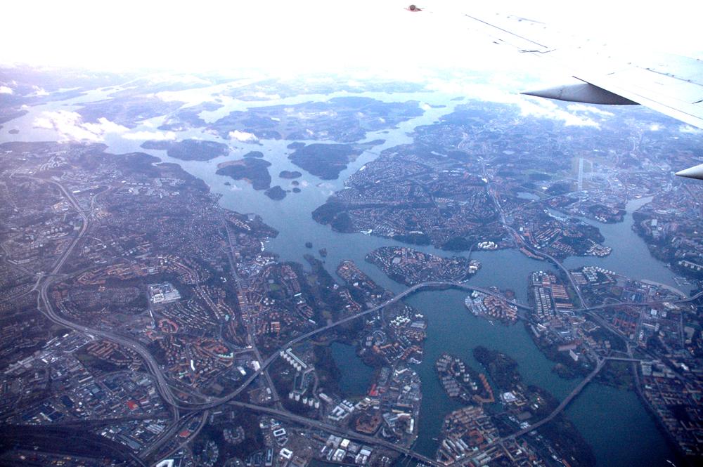 Stockholm med Bromma øverst til høyre.