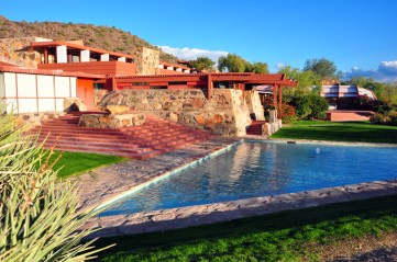 Frank Lloyd Wright's Taliesin West. (Image: Andrew Horne via Wikimedia Commons)