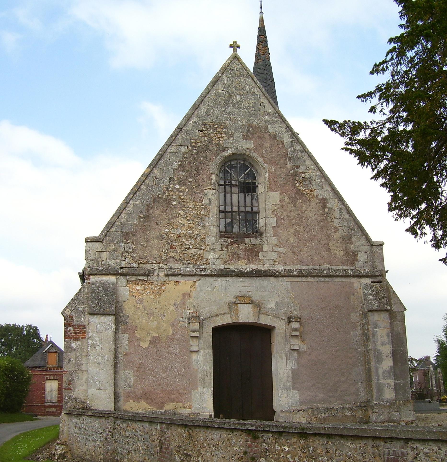 Église Saint-Just, im Hintergrund sieht man die Seite der alten mairie, eigenes Foto, Lizenz: public domain/gemeinfrei