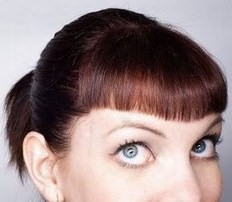 English: Picture to illustrate bangs