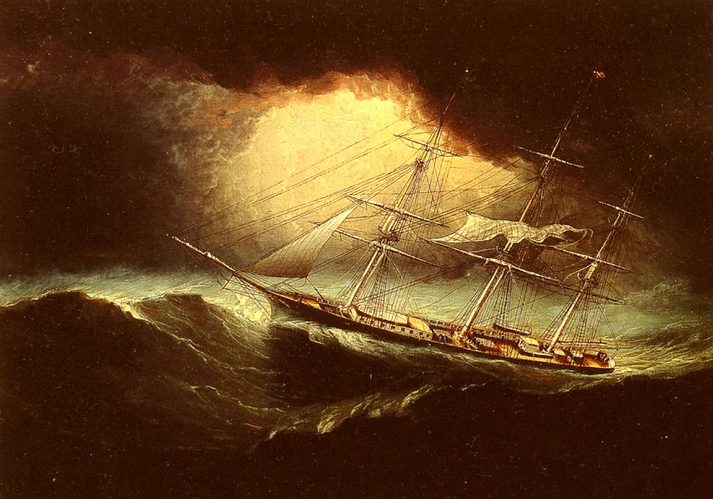 James E Buttersworth / Ship in a Storm