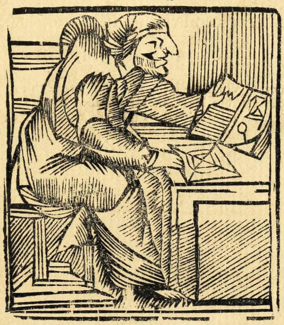 Old engraving of Mother Shipton.