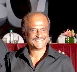 English: Rajinikanth at the audio release of E...