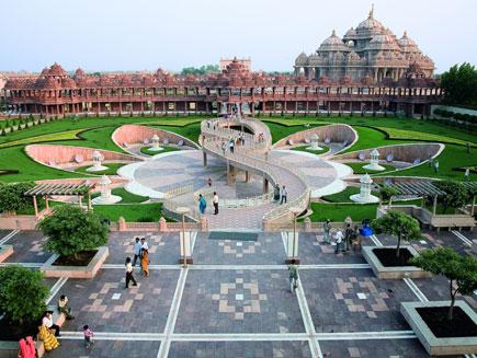 yogi hardaya kamal garden at akshardham