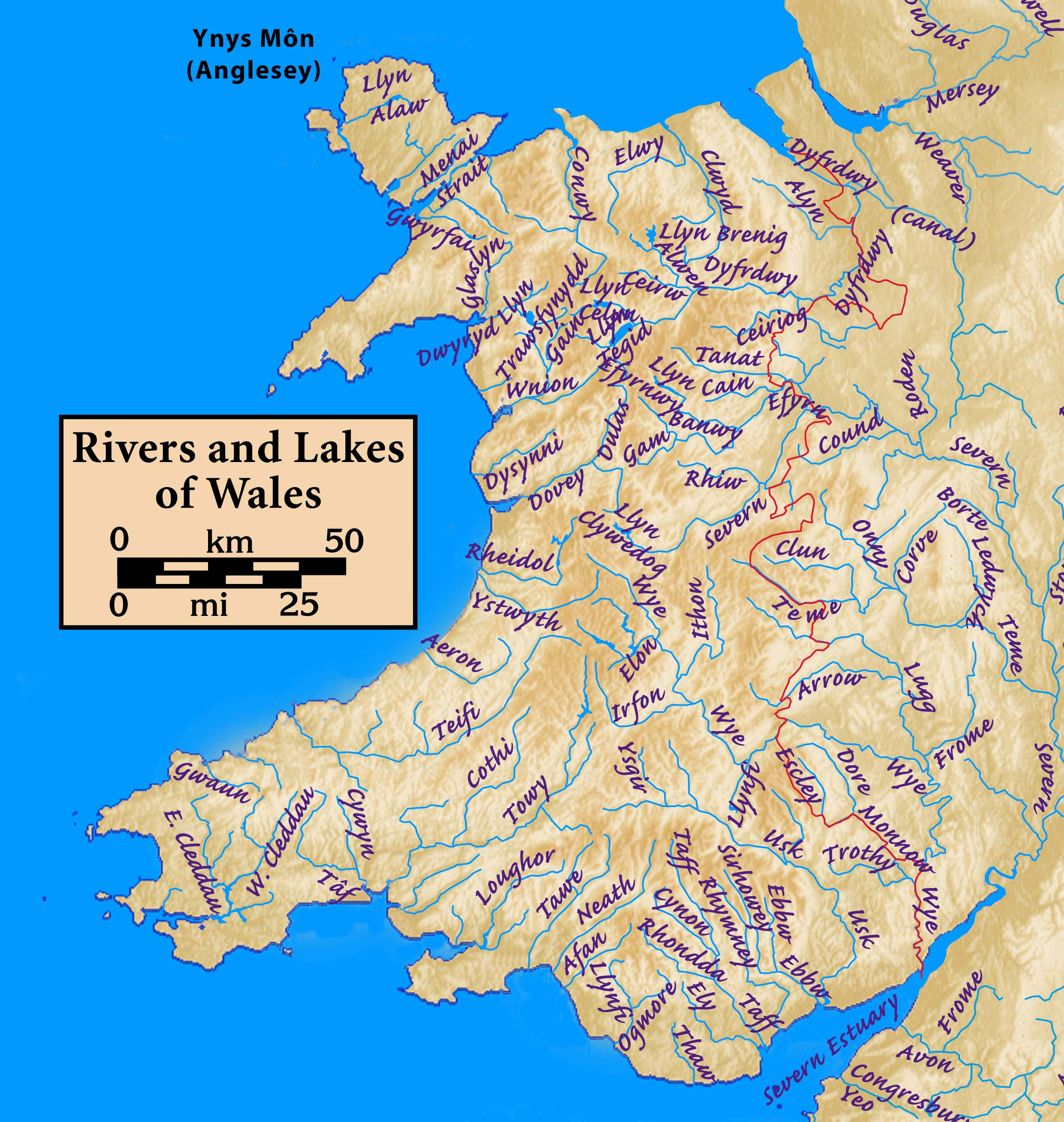 List Of Rivers Of Wales