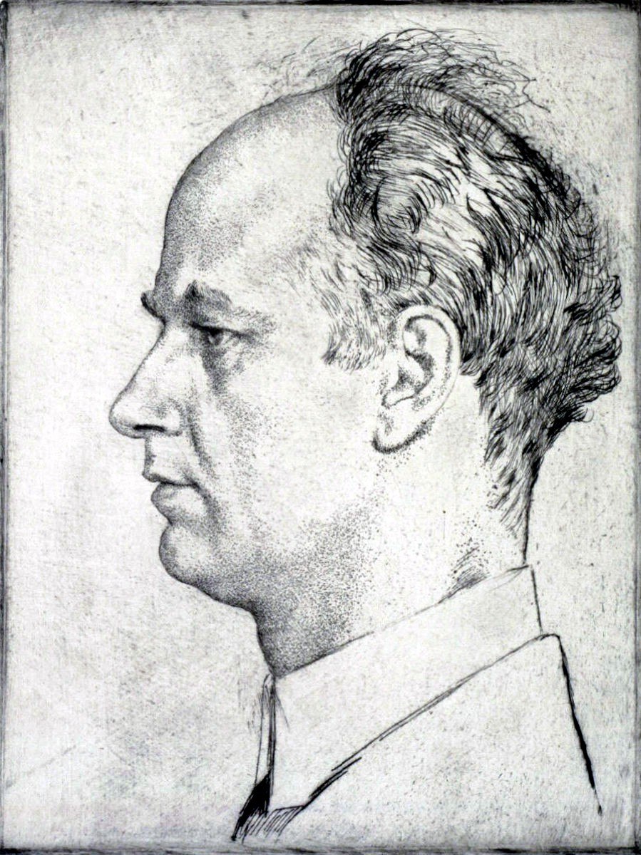 Portrait of Wilhelm Furtwängler by Emil Orlik