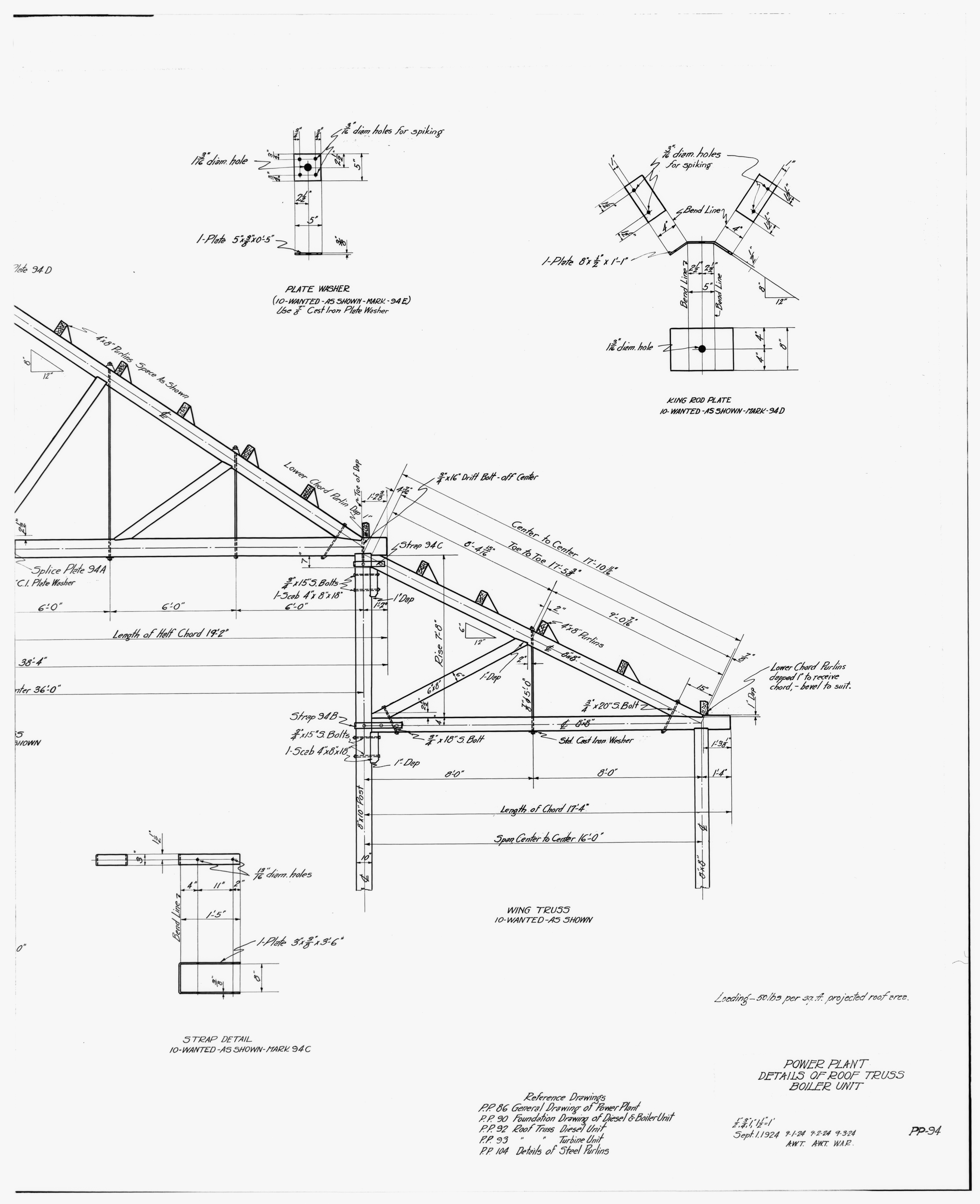 File 30 Photocopy Of Drawing Of Power Plant Details Of