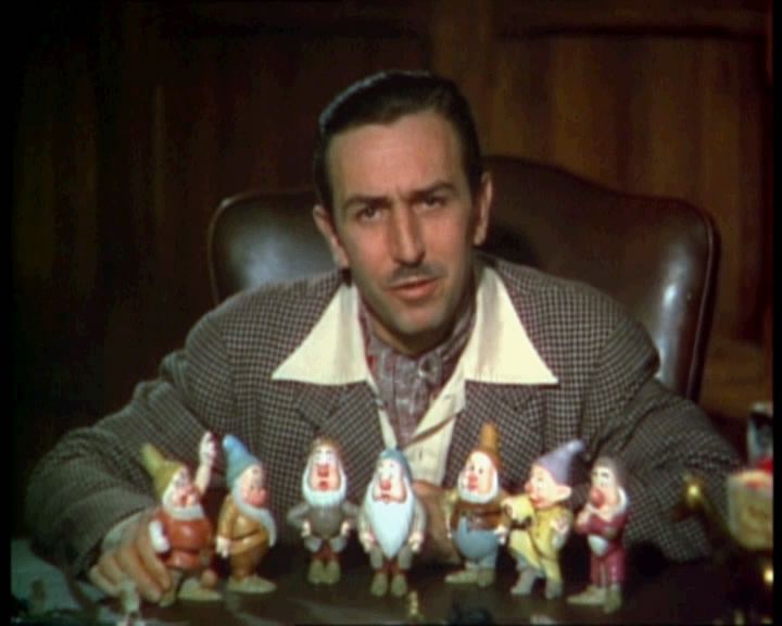 Walt Disney in a 1937 color movie trailer for ...
