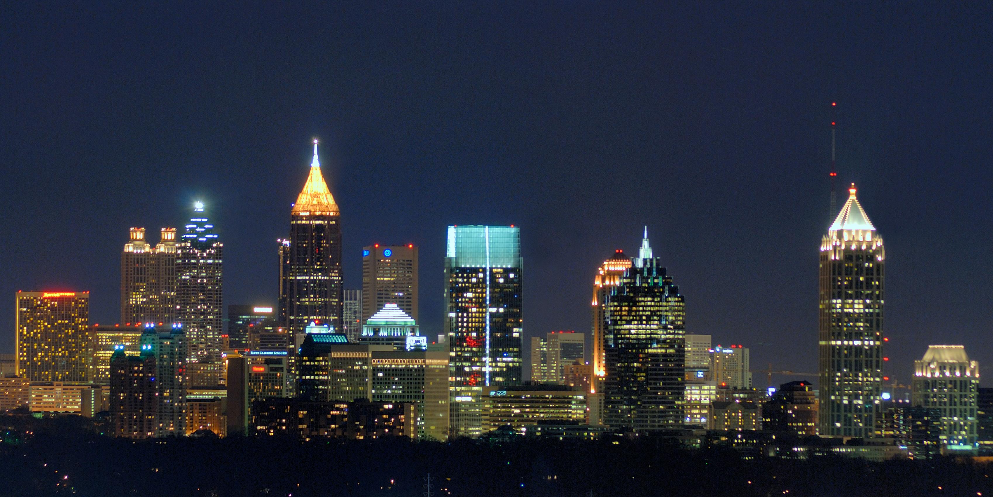 English: Atlanta skyline from the Intercontine...