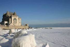 Winter walking by Constanta Casino - What to do on the Black Sea coast | Romania tailor made holiday